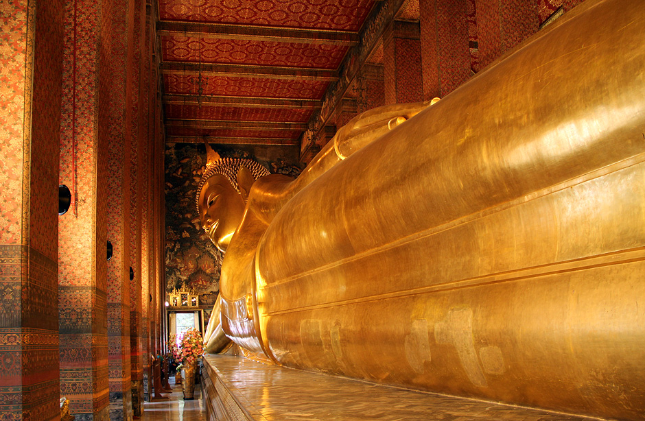 Bangkok, Wat Pho, Ruhender Buddha