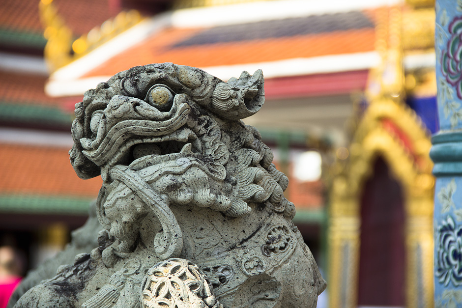 Bangkok, Wat Phra Keo, Wat Phra Kaeo, Fu-Hund
