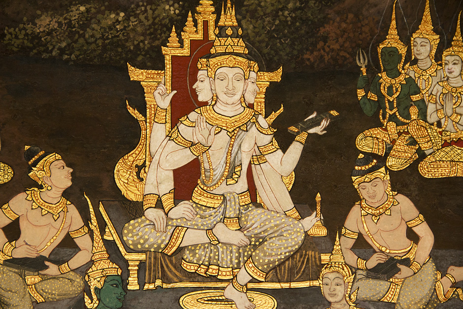 Bangkok, Wat Phra Kaeo, Ramakien-Wandmalereien