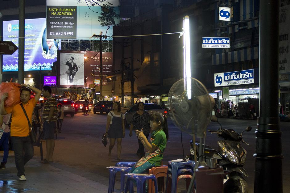 Bangkok, Thanon Rachadamri, Nacht