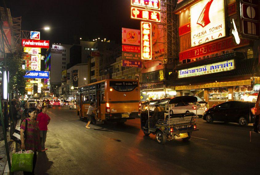 Bangkok, Chinatown, Samphanthawong, Thanon Yoawarat, Nacht