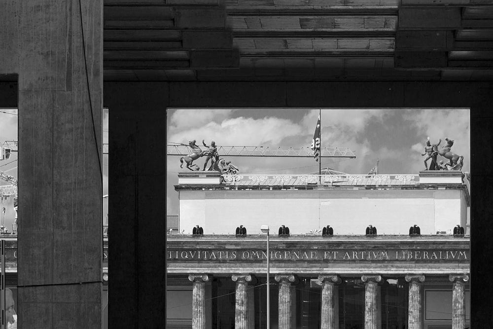Berliner Schloss - Humboldt-Forum, Richtfest, Rohbau,Altes Museum