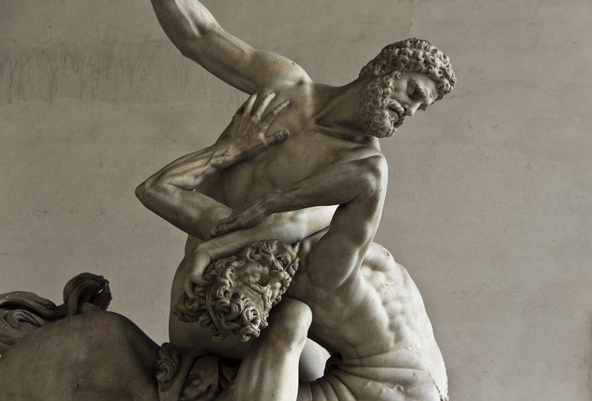 Fabian Fröhlich, Florenz, Loggia dei Lanzi, Herkules und Nessos