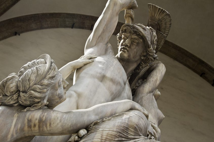Fabian Fröhlich, Florenz, Loggia dei Lanzi, Pio Fedi, Der Raub der Polyxena