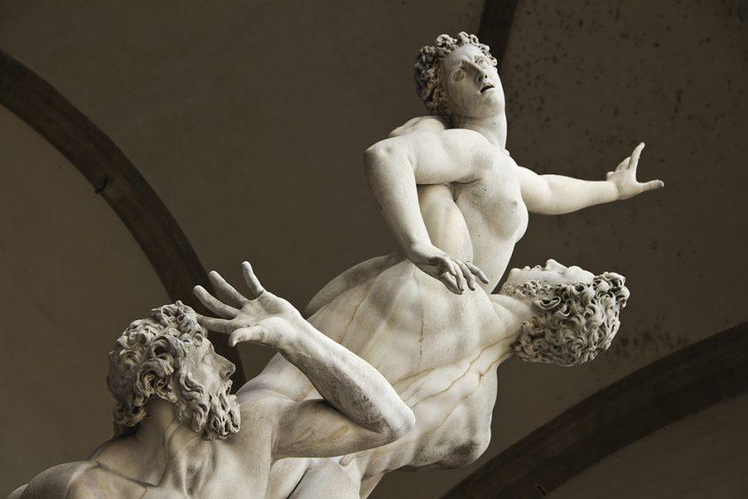 Fabian Fröhlich, Florenz, Loggia dei Lanzi, Giambologna, Raub der Sabinerin