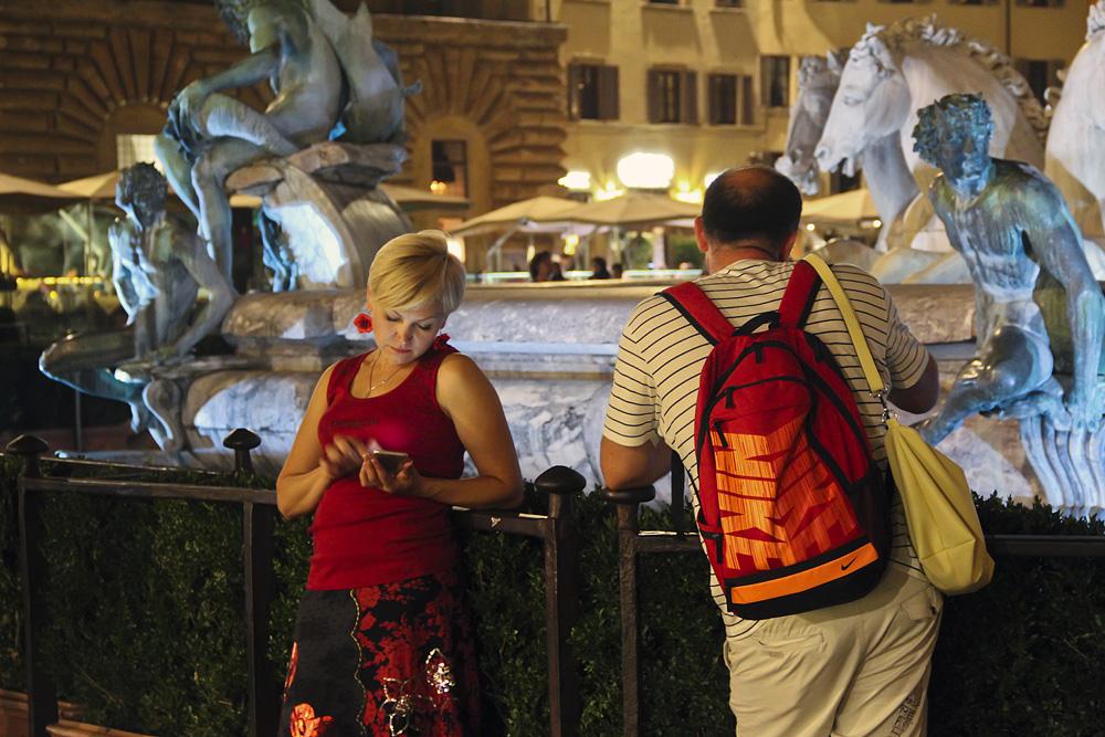 Florenz bei Nacht, Neptunbrunnen
