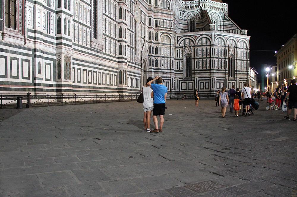 Florenz bei Nacht, Piazza San Giovanni