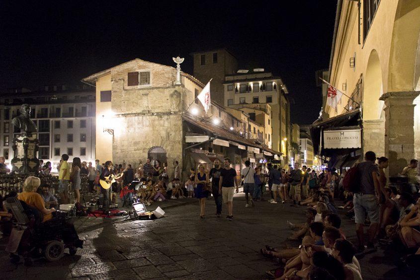 Florenz bei Nacht, Ponte Vecchio