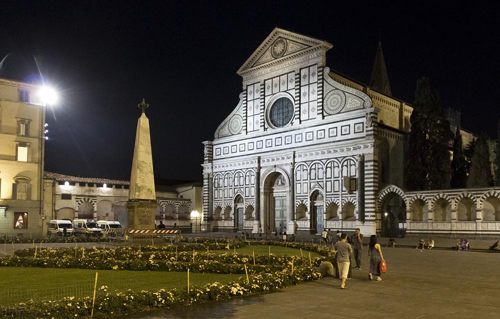 Florenz bei Nacht, Santa Maria Novella