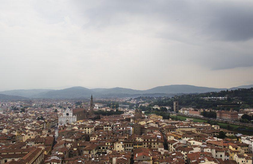 Florenz, Blick vom Palazzo Vecchio zu Santa Croce