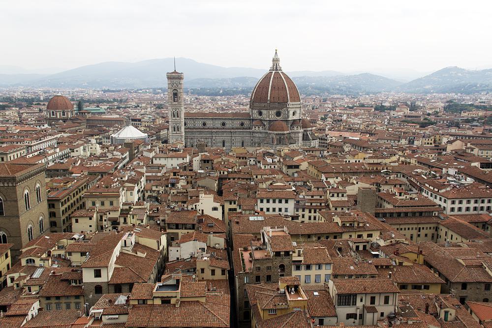 Florenz, Blick vom Palazzo Vecchio zum Dom