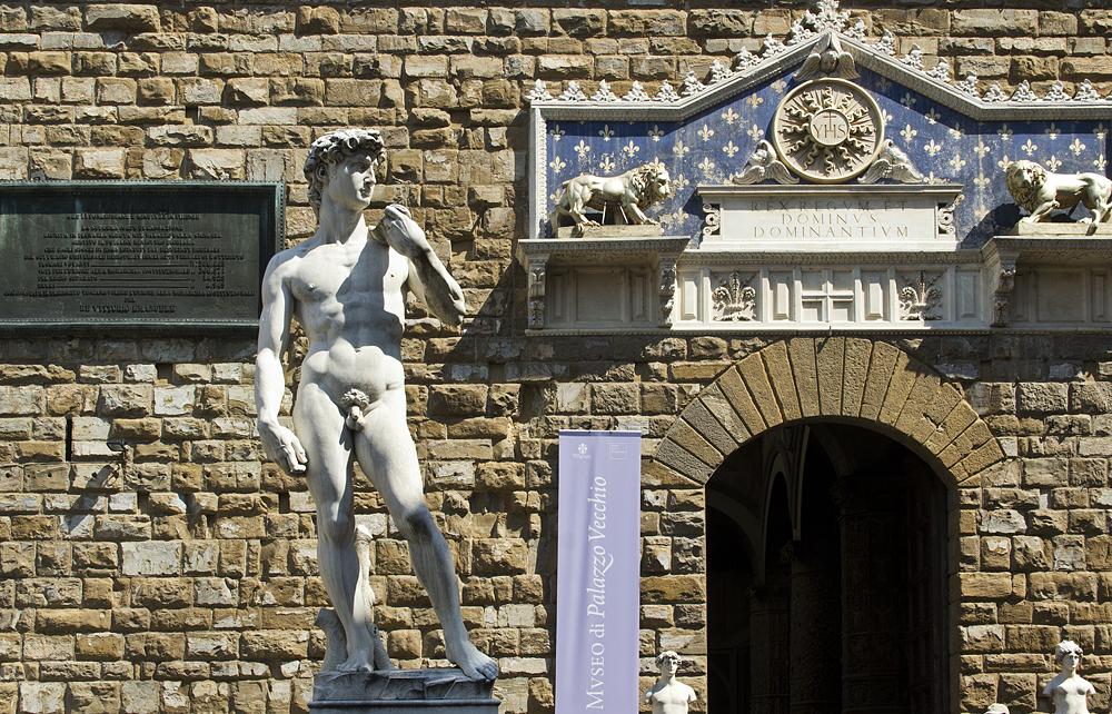 Kopie von Michelangelos David vor dem Palazzo Vecchio