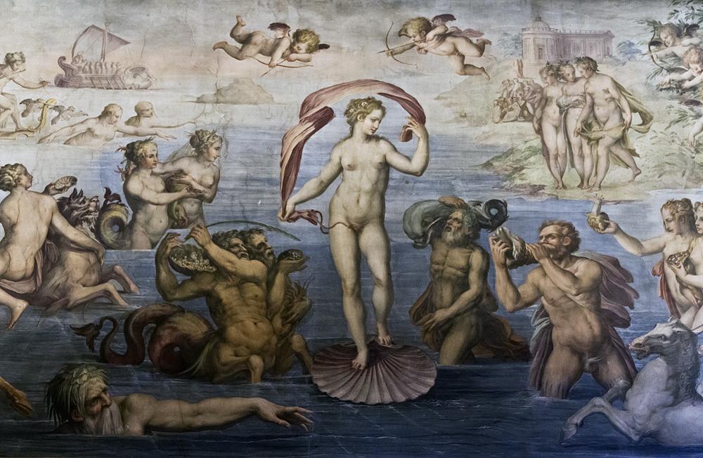 Palazzo Vecchio, Geburt der Venus von Giorgio Vasari im Quartiere degli Elementi