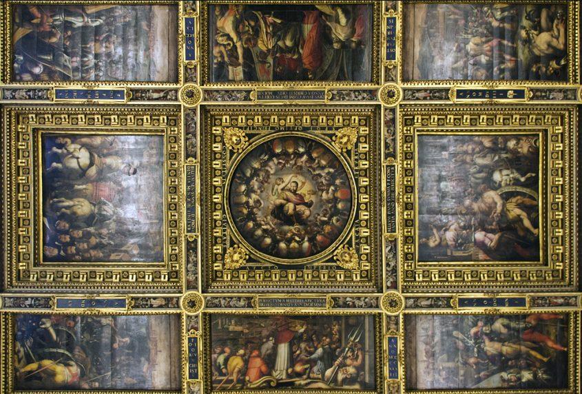Palazzo Vecchio, Salone dei Cinquecento, Decke