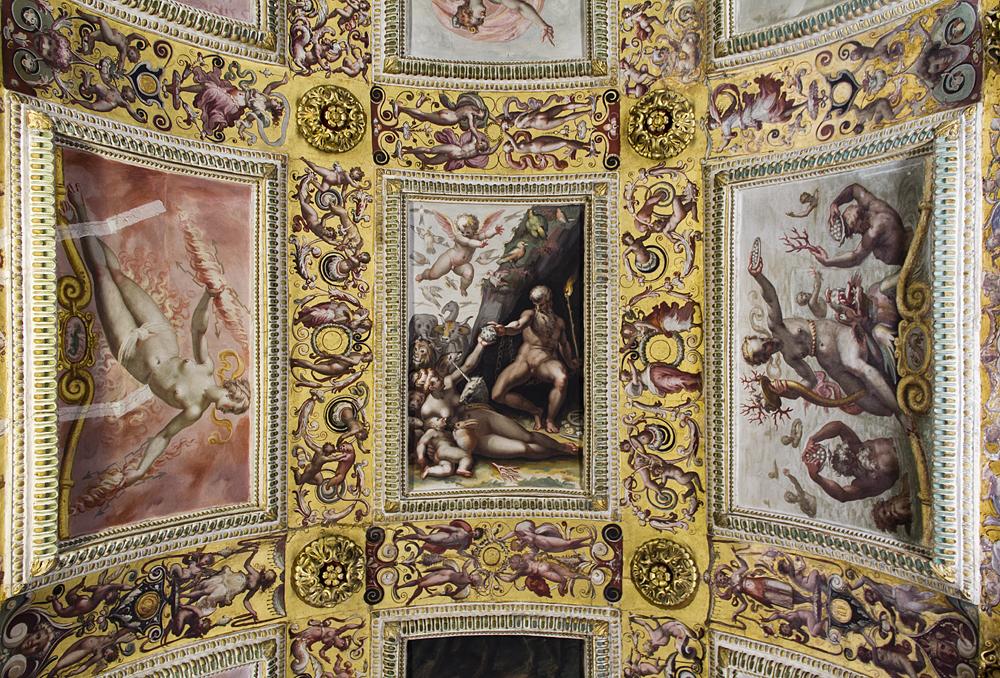 Palazzo Vecchio, Studiolo dei Francesco I., Decke