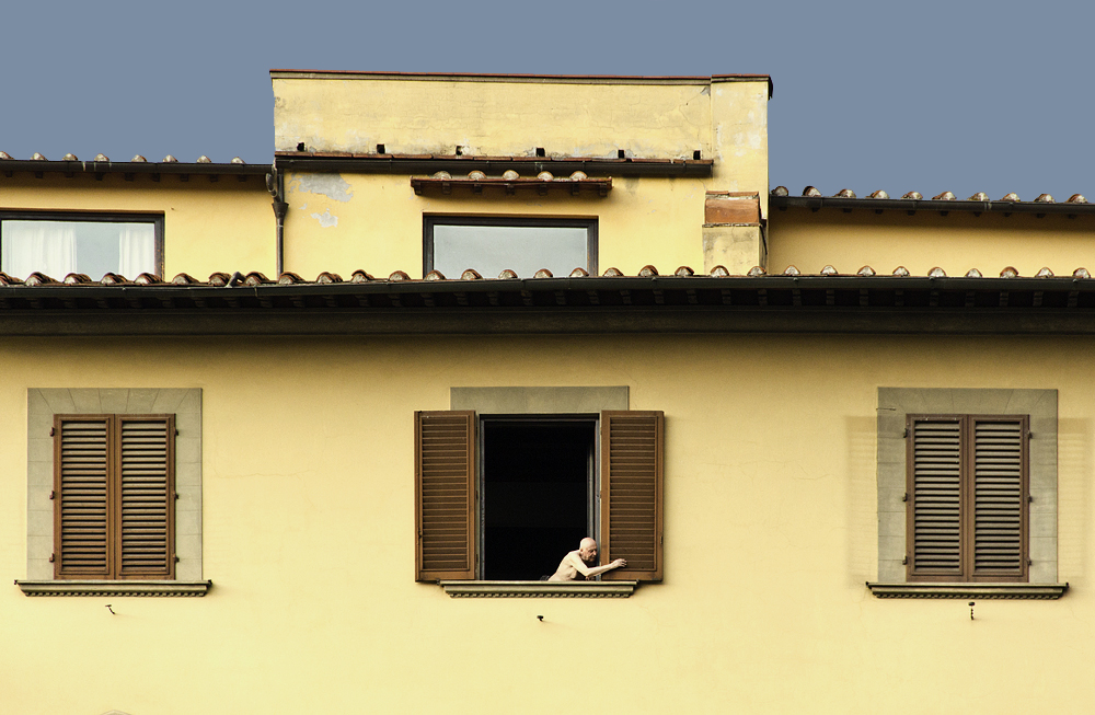 Piazza della Signoria, Fenster