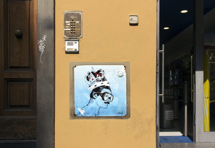 Street Art, Firenze, Freddy Mercury Borgo San Lorenzo (Blub, L'arte Sa Nuotare)