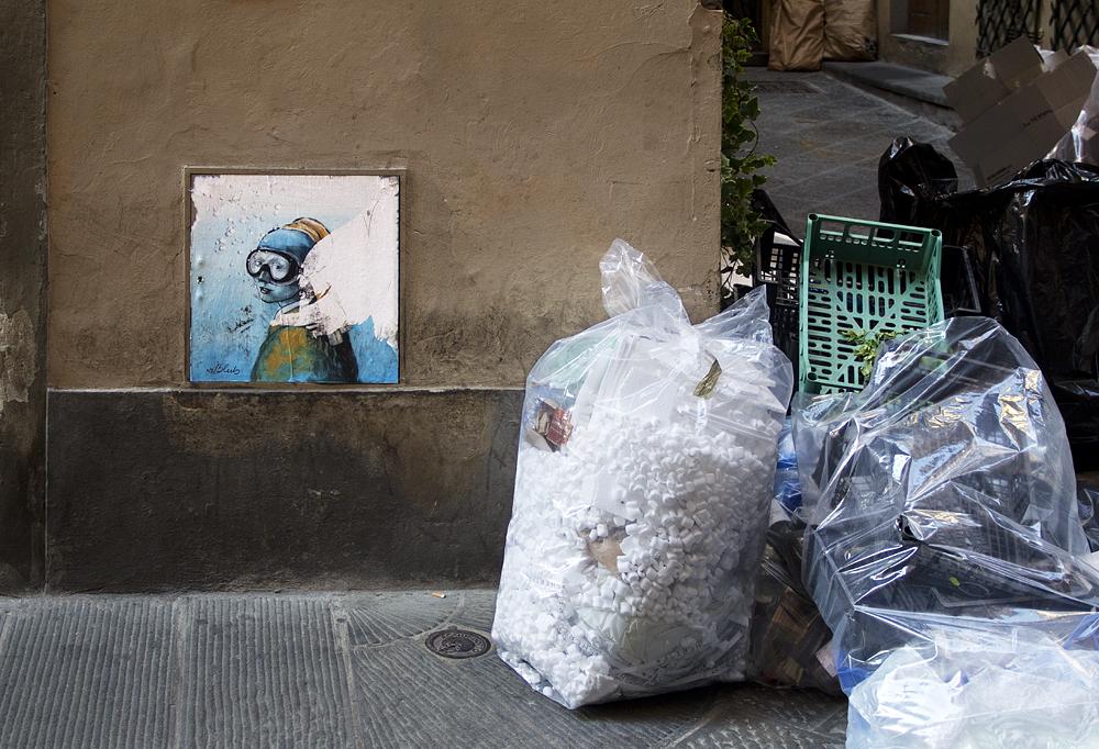 Street Art, Firenze,Blub, L'arte Sa Nuotare, Vermeer