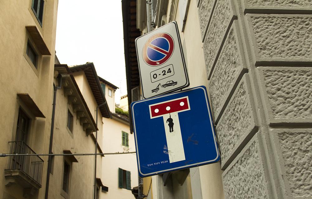 Street Art, Firenze, Via de Tornabuoni (Clet)