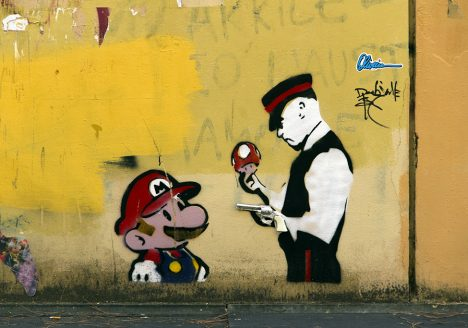 Street Art, Firenze,Via degli Alfani, Super Mario