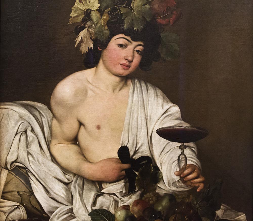 Uffizien, Caravaggio, Bacchus