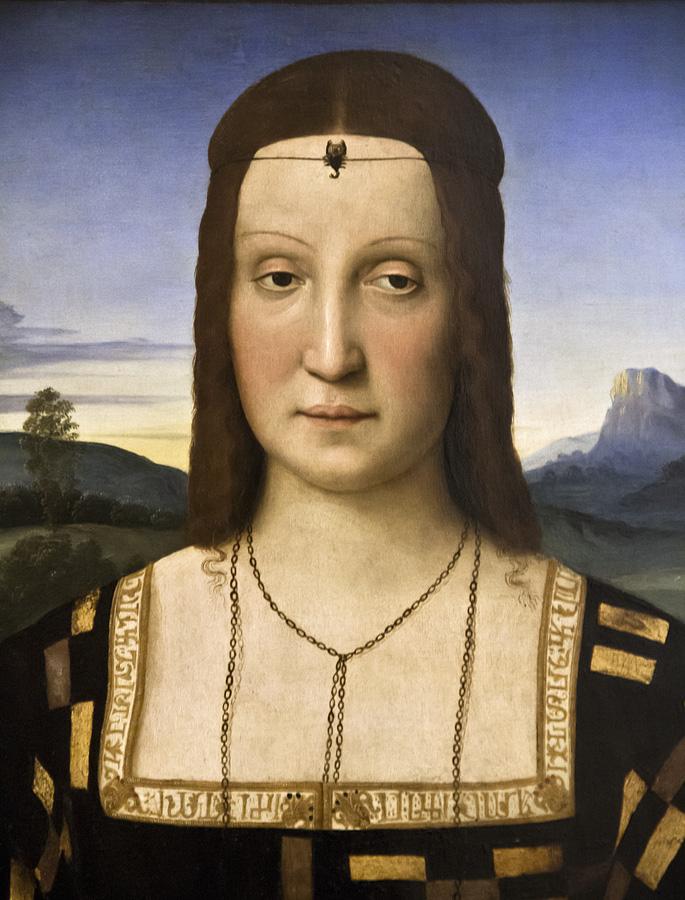 Uffizien, Raffael, Porträt der Elisabetta Gonzoga