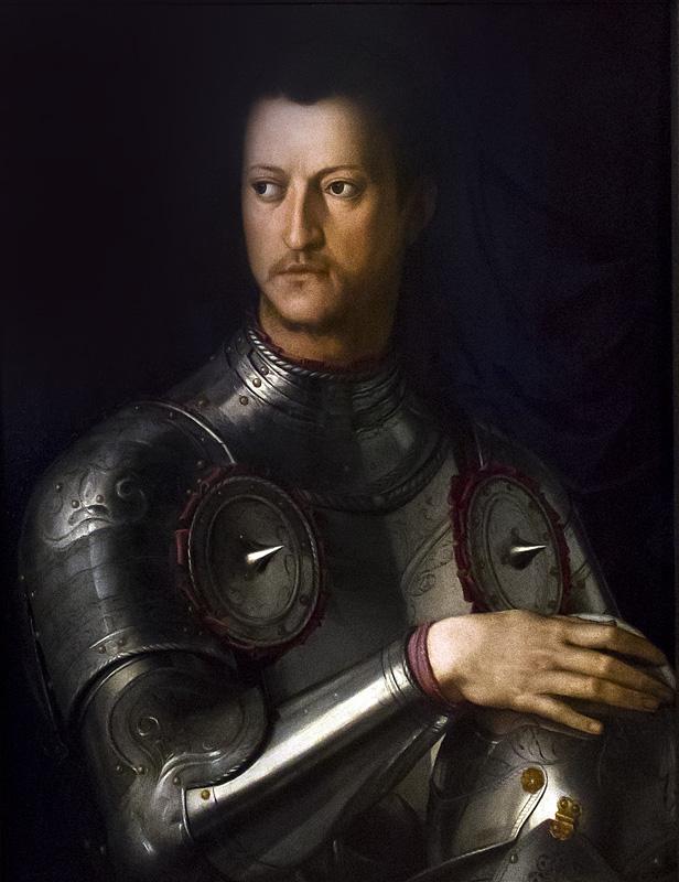 Uffizien, Bronzino, Cosimo I de'Medici in Rüstung
