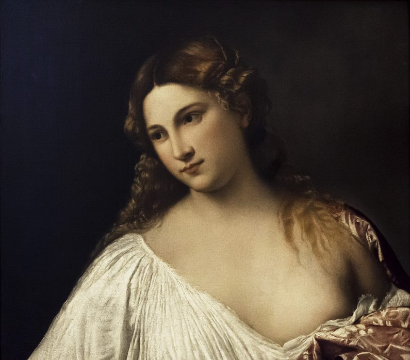 Uffizien, Tizian, Flora
