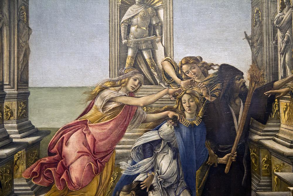 Uffizien, Botticelli, Verleumdung des Apelles