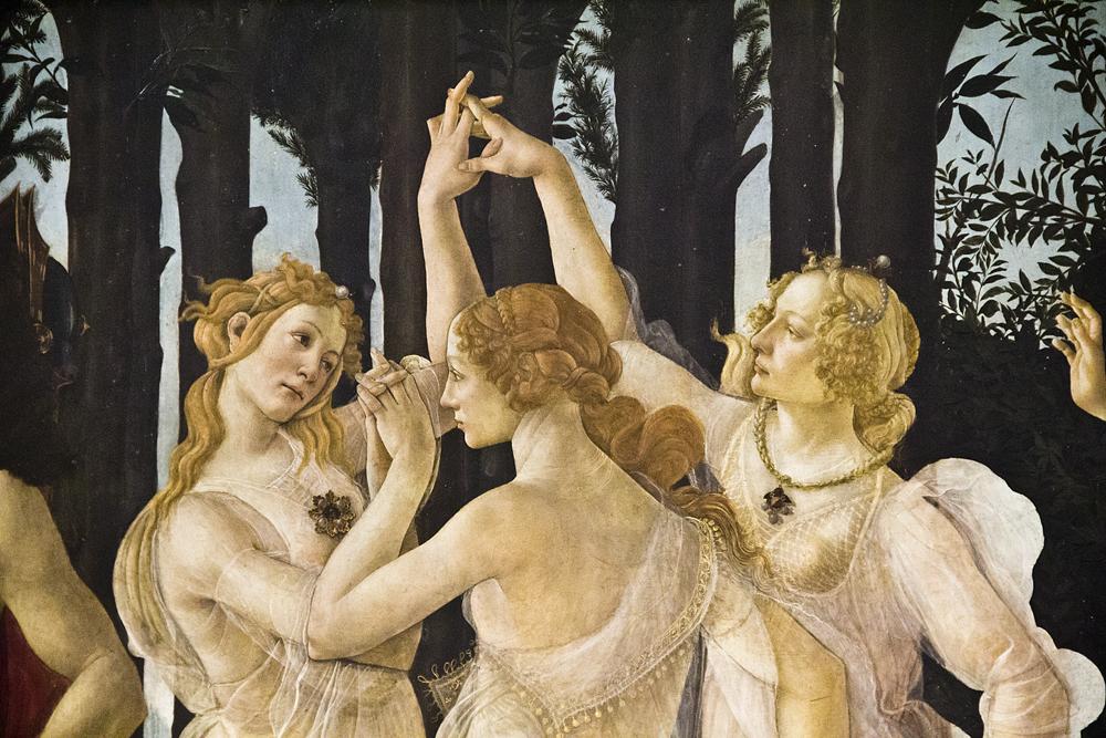Uffizien, Botticelli, Primavera, Drei Grazien