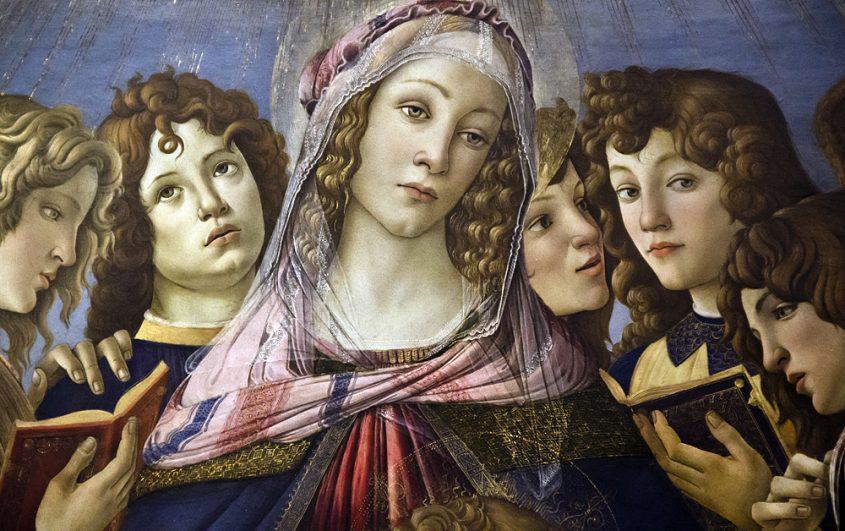 Uffizien, Botticelli, Madonna Granatapfel