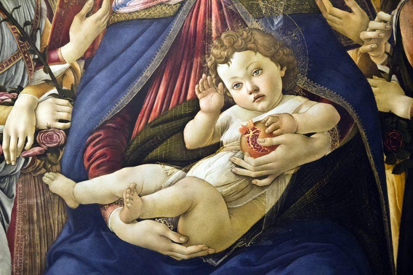 Uffizien, Botticelli, Madonna mit dem Granatapfel