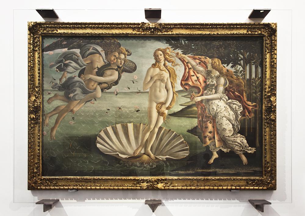Uffizien, Sandro Botticelli, Geburt der Venus