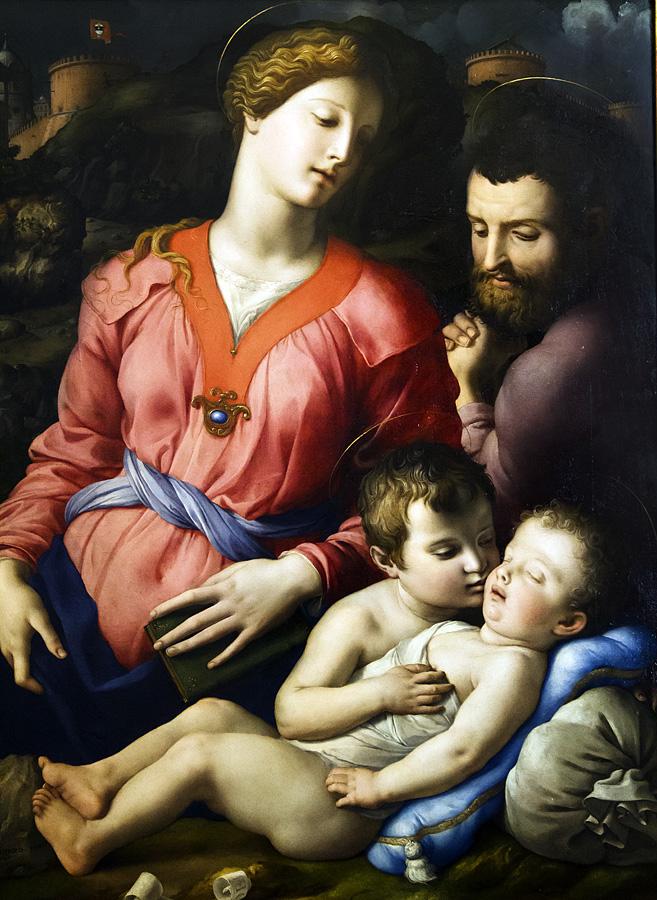 Uffizien, Bronzino, Heilige Familie mit Johannes dem Täufer