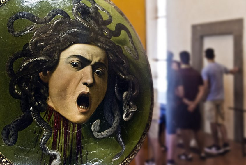 Uffizien, Caravaggio, Haupt der Medusa