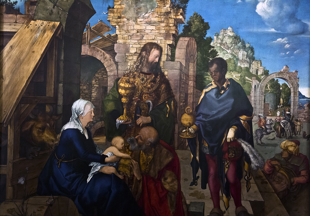 Uffizien, Albrecht Dürer, Anbetung der Könige