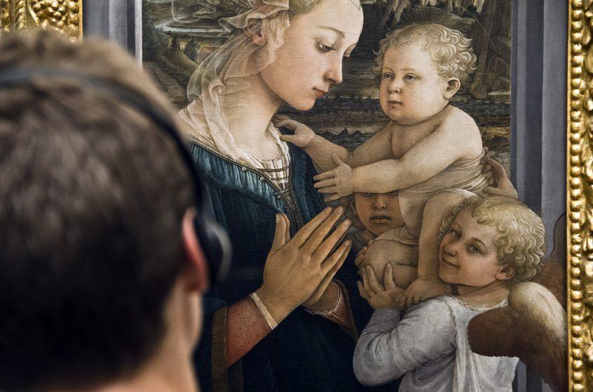 Uffizien, Filippo Lippi, Madonna mit Kind und zwei Engeln