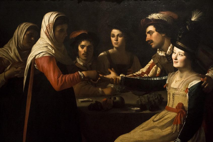Uffizien, Gerrit van Honthorst, Die Wahrsagerin