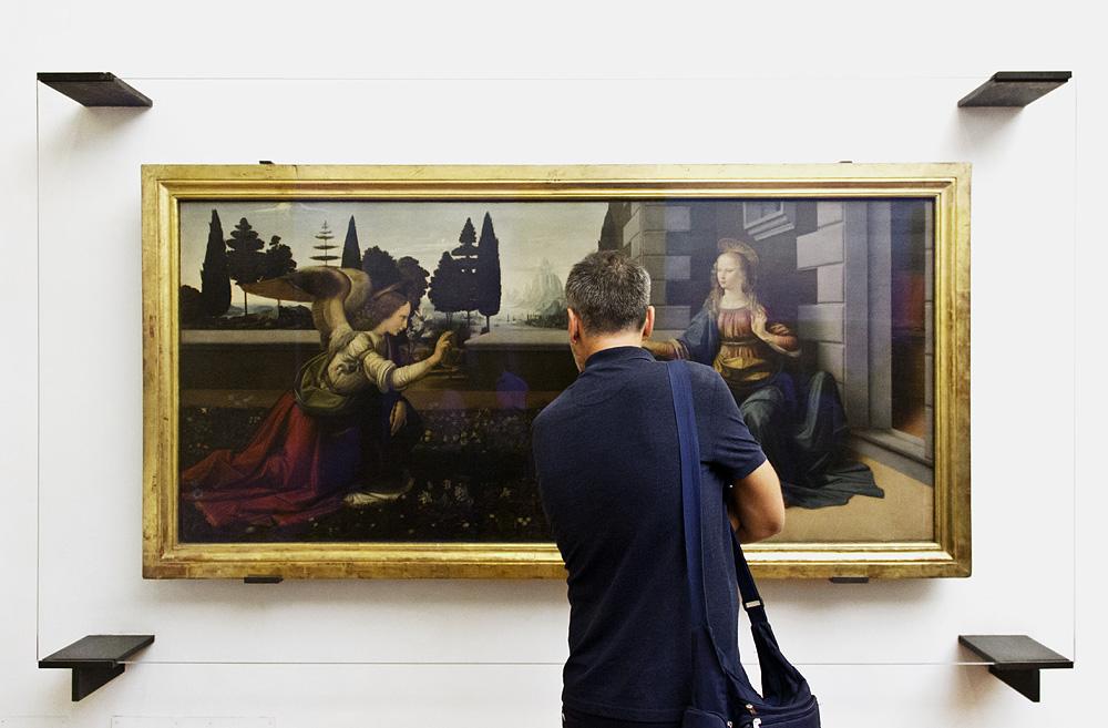 Uffizien, Leonardo da Vinci, Verkündigung