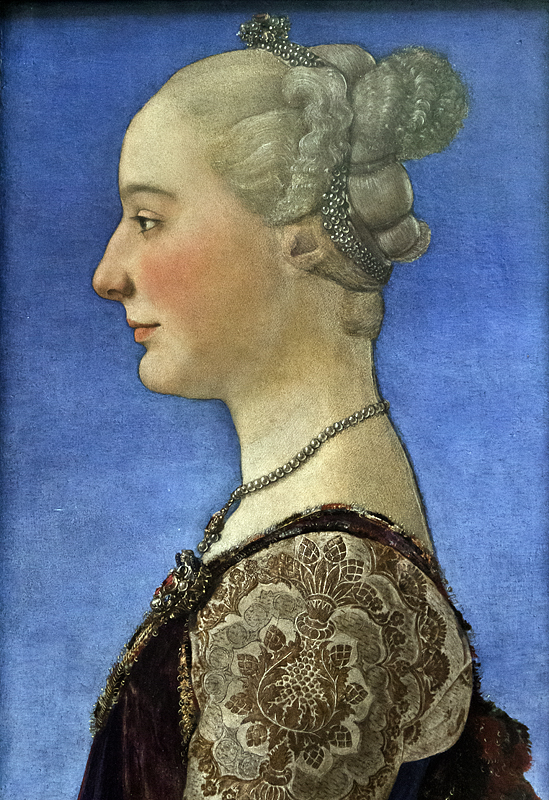 Uffizien, Antonio Pollaiuolo, Porträt eines Mädchens