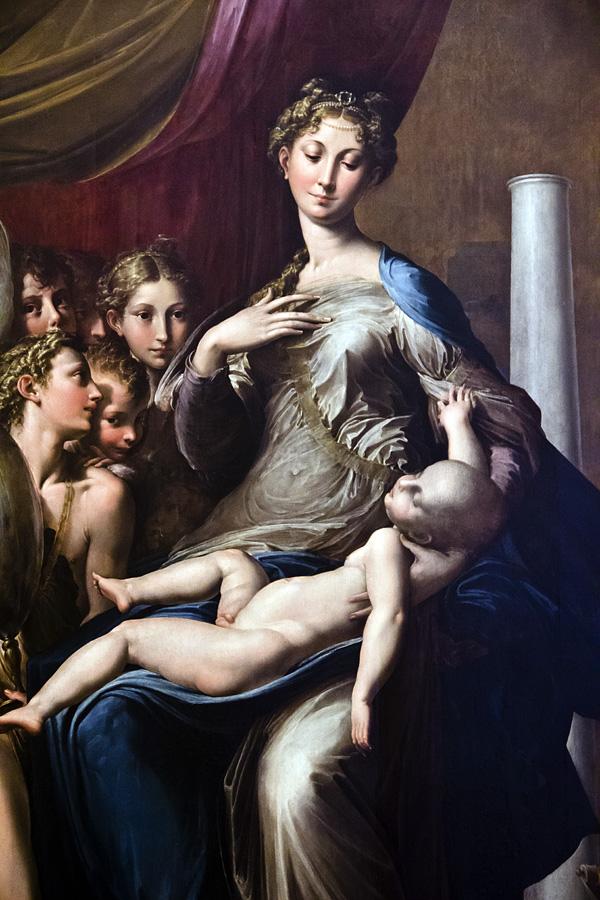 Uffizien, Parmigianino, Die Madonna mit dem langen Hals