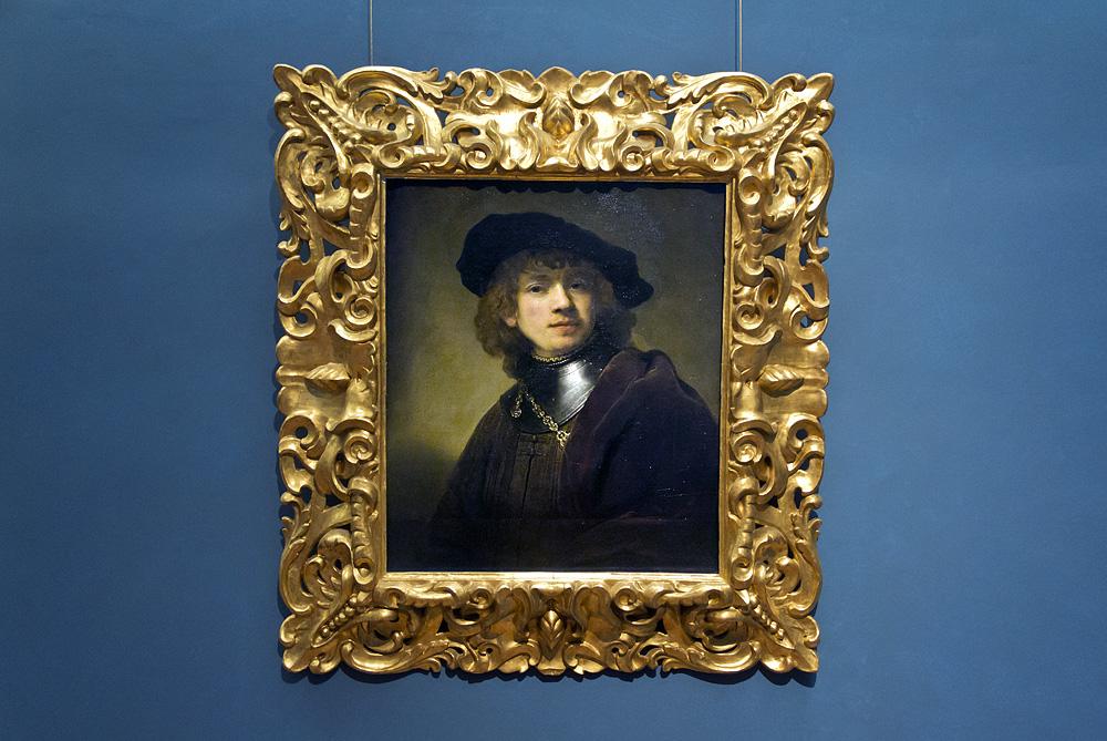 Uffizien, Rembrandt, Selbstbildnis in jungen Jahren