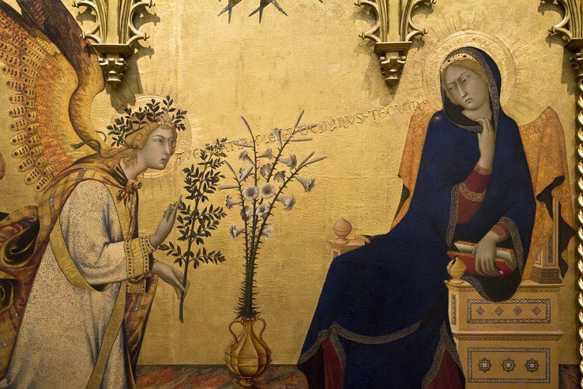 Uffizien, Simone Martini, Verkündigung
