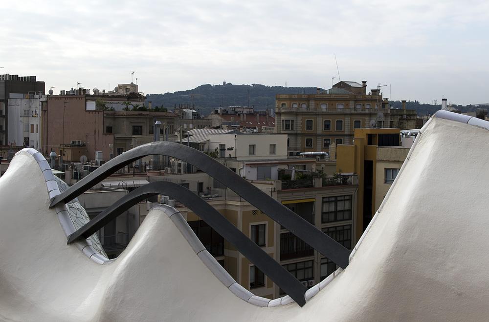 Barcelona, Casa Batlló von Antoni Gaudi, Dachterrasse