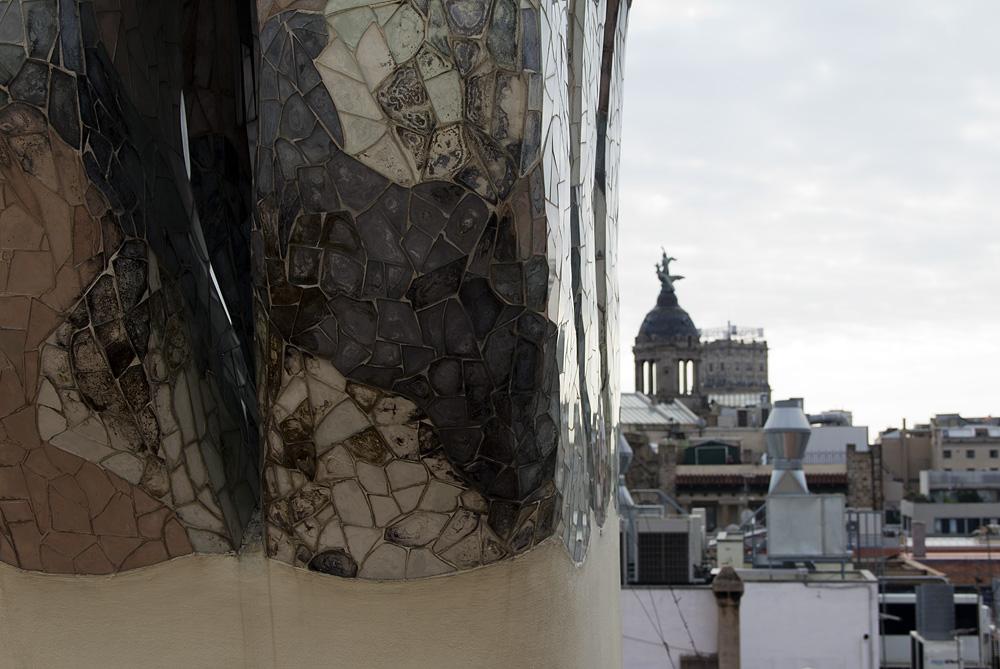 Barcelona, Casa Batlló von Antoni Gaudi, Kamine