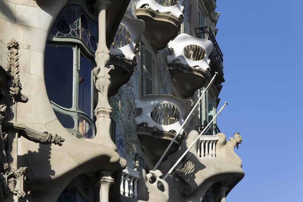 Barcelona, Casa Batlló von Antoni Gaudi, Manzana de la Discordia,Fassade am Passeig de Gracia