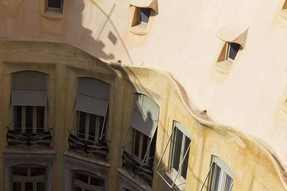 Barcelona, Casa Milà, La Pedrera, Antoni Gaudí, Innenhof