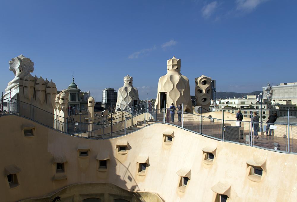 Barcelona, Casa Milà, La Pedrera, Antoni Gaudí, Dachterrasse