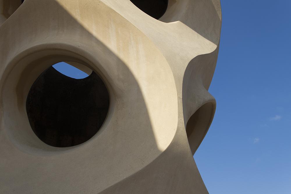 Barcelona, Casa Milà, La Pedrera, Antoni Gaudí, Schornstein