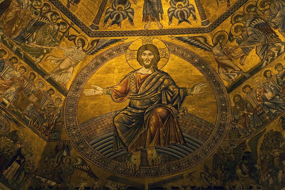Battistero di San Giovanni, Kuppelmosaik, Jüngstes Gericht